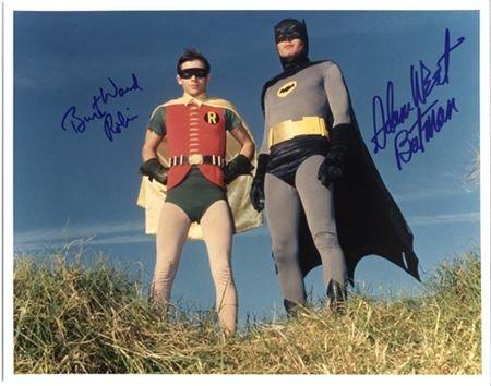 22: Batman Adam West Burt Ward Signed 11x14 Photo (A)
