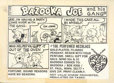 24: 1973 Topps Bazooka Joe Original Paste-Up Art