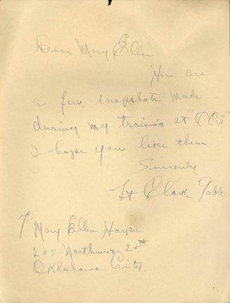 103: Clark Gable Signed War Era Letter w/ Signed Photo