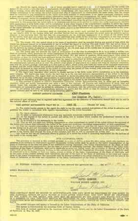 150: David Janssen Signed William Morris Contract GAI