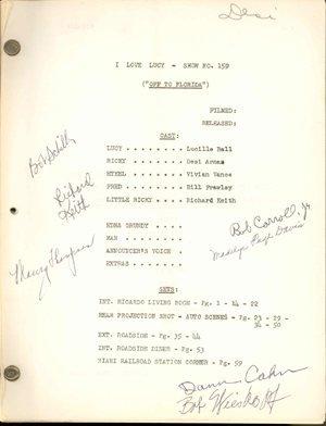 176: Desi Arnaz's Original I Love Lucy Shooting Script