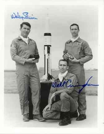 535: Apollo 7 Schirra & Cunningham Signed Photo