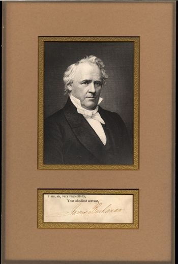 540: James Buchanan Matted Signature Display GAI COA