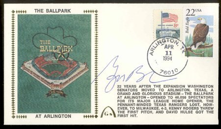 545: George W. Bush Signed Gateway Cover GAI COA
