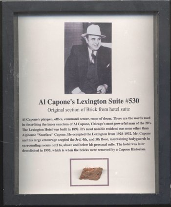 546: Al Capone Personal Relic Display