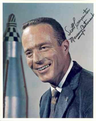 547: Scott Carpenter Signed & Inscribed Photograph GAI