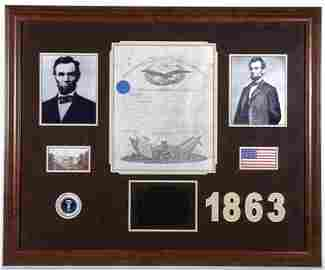 597: Abraham Lincoln Signed Military Commission GAI