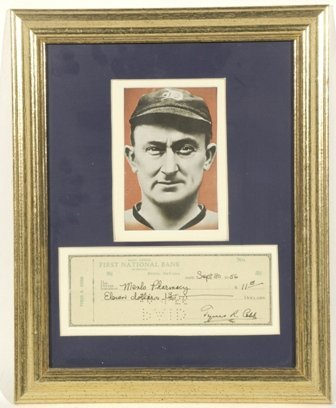 708: Ty Cobb Signed Bank Check
