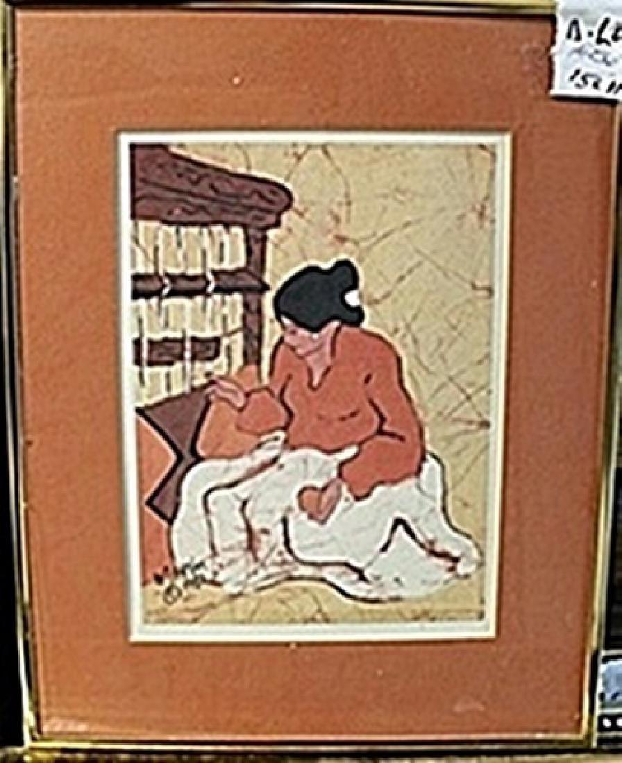 Indian Woman Weaving AR5671