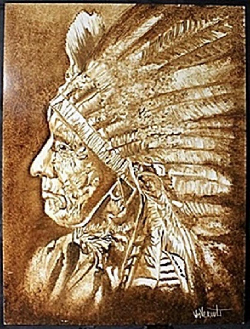 """War Bonnet"" Original Oil on Panel   William Verdult"