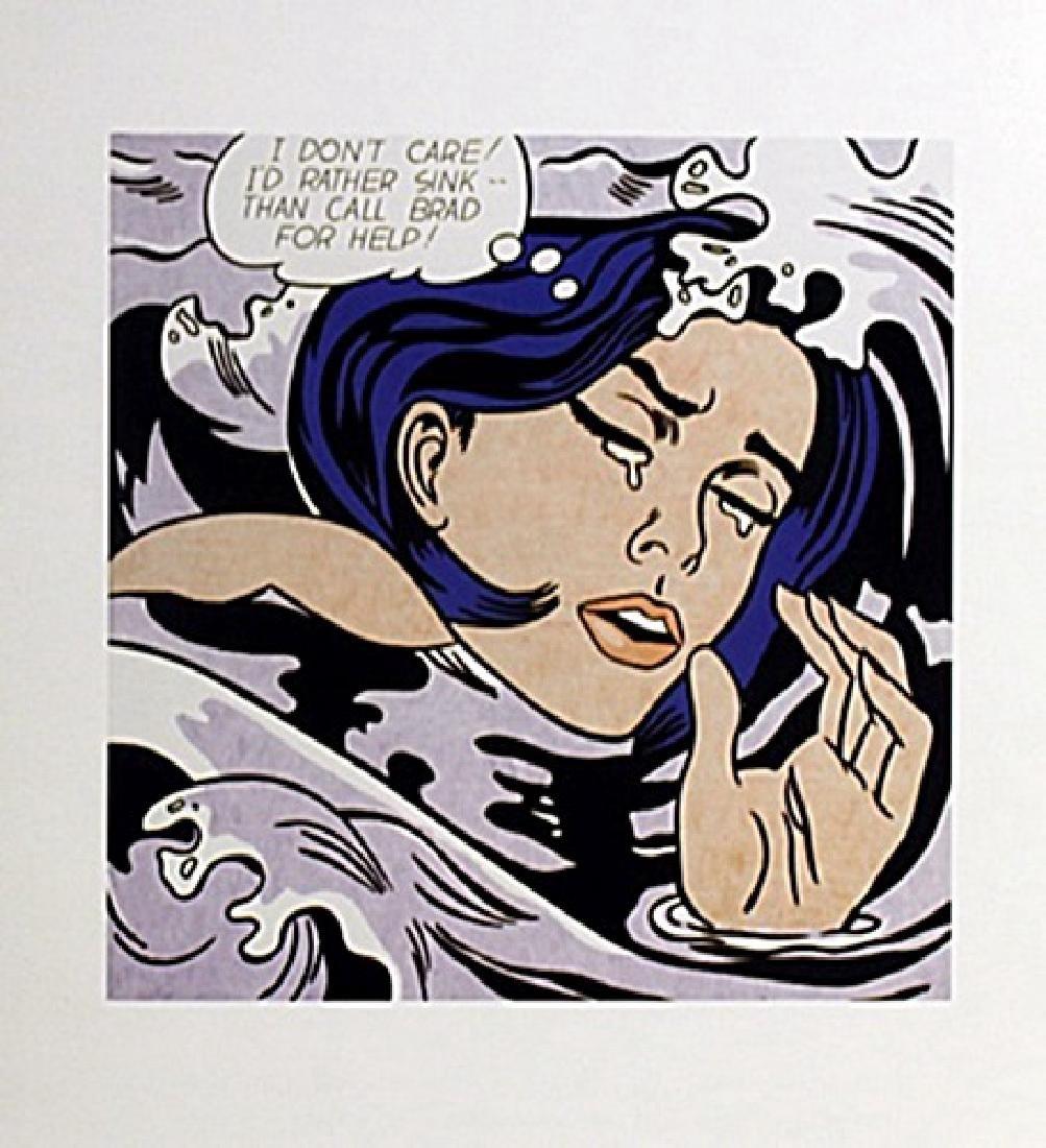 """Print """"Drowning Girl""""  Roy Lichtenstein (154A)"""