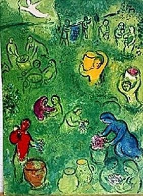Marc Chagall - - The Wine Harvest