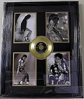 Michael Jackson Giclee  with Mini Gold Album HE5062