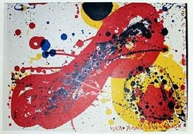 """Lithograph """"Red Knob"""" By Samuel L. Francis"""