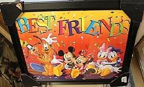 """Framed Lithograph """"Disney Best Friends"""""""