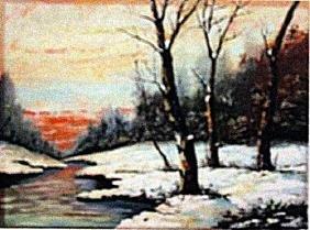 Camille Pissarro - Snow at Louveciennes