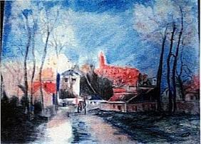 Camille Pissarro - The Hermitage at Pontoise