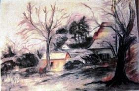 Camille Pissarro - The Village In Eragny
