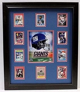 10 Cards with Licensed Photo of The New York Giants