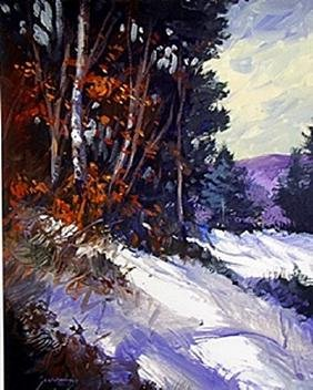 Lithograph Winter Light By Michael Schofield
