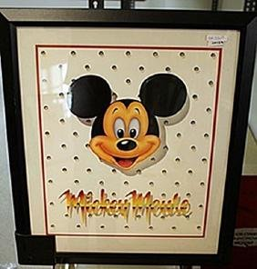 """Framed Lithograph """"Walt Disney's Mickey Mouse"""""""