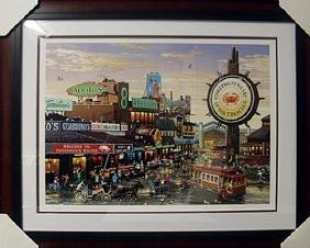 """Mixed Media on Paper """"Fishermans Wharf""""  Alexander Chen"""