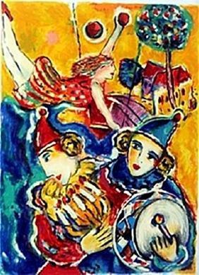 "Serigraph ""Circus A"" by Zamy Steynovits"