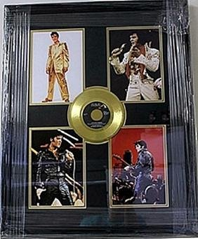 Elvis Presley Giclee with Love me Tender Gold Mini