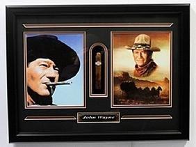 John Wayne Double Picture & Cigar