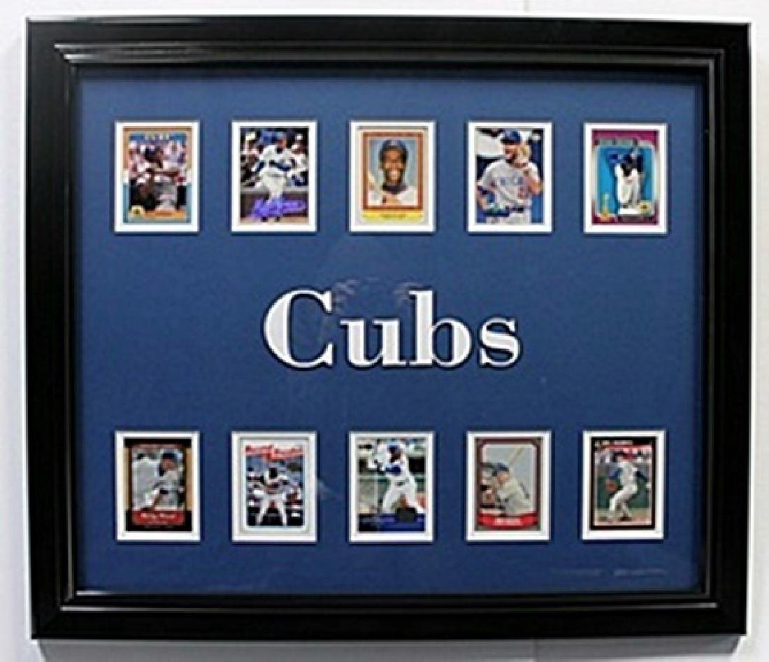 10 Cards with Licensed Photo of The Chicago Cubs