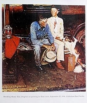 Print Braking Home Ties - Norman Rockwell