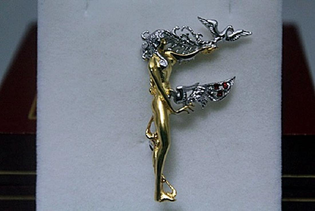 Elegant Gold Erte Pendant (71P)