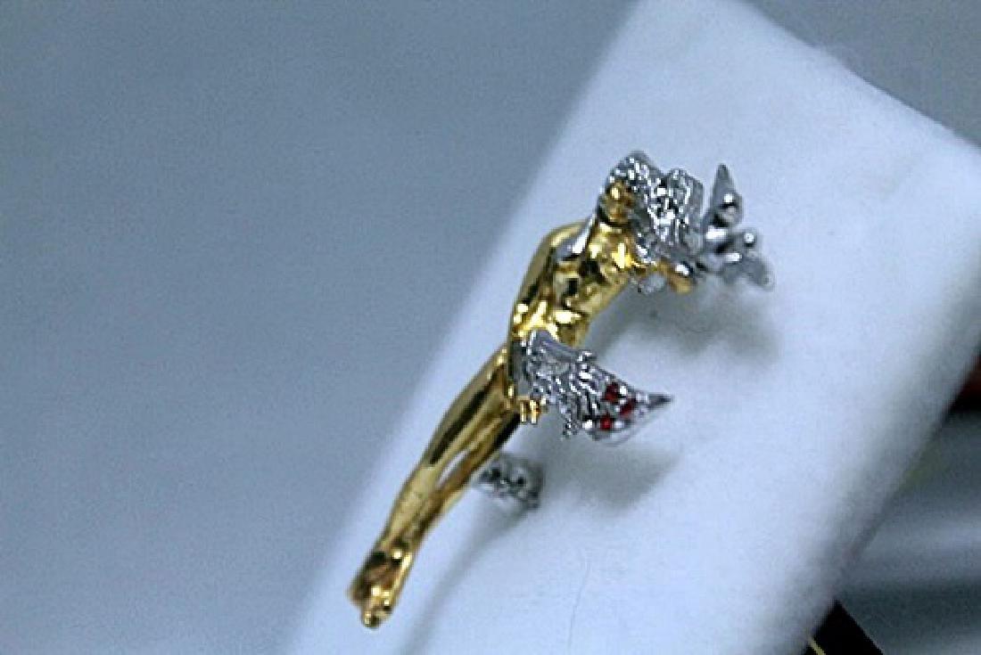 Elegant Gold Erte Pendant (71P) - 2