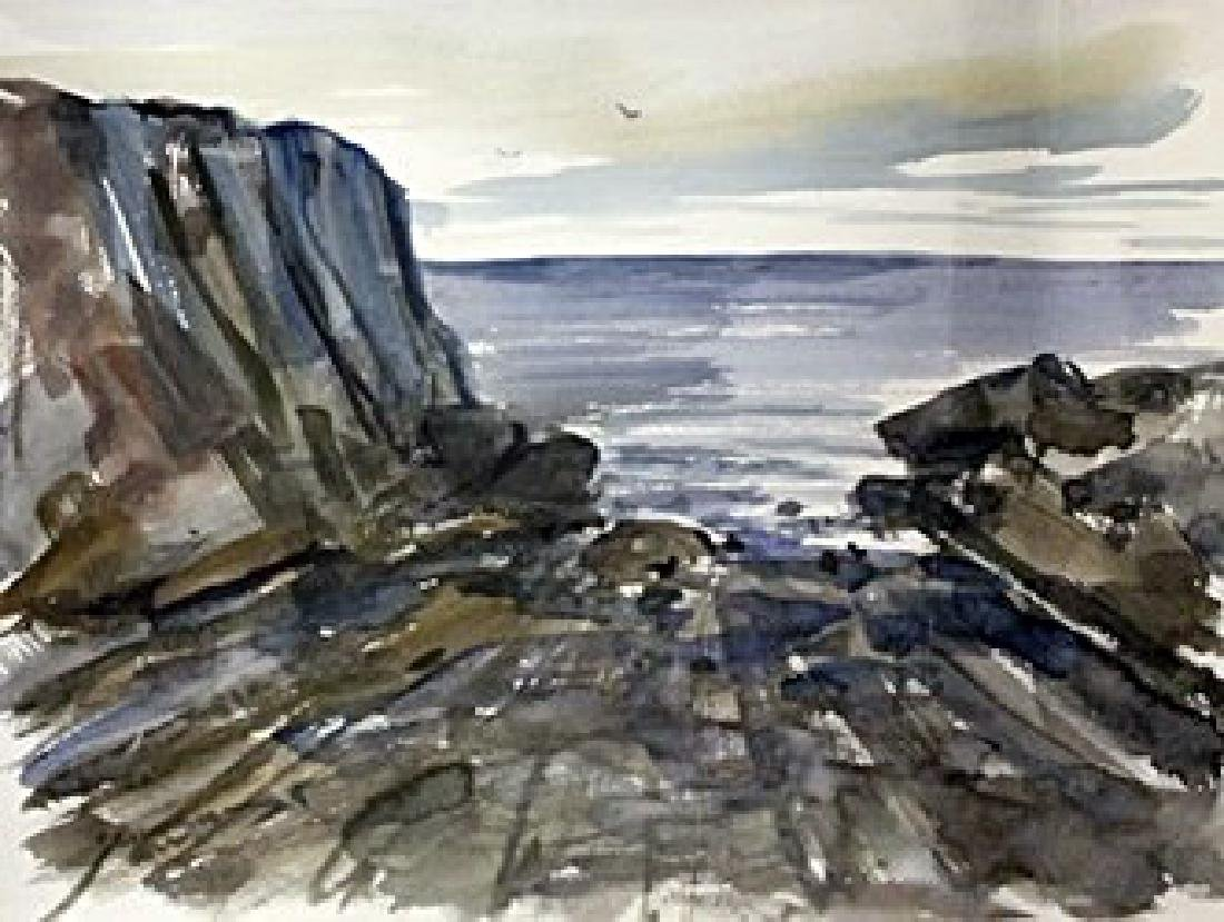 """Original Watercolor on Paper """"Close to Shore"""" by"""