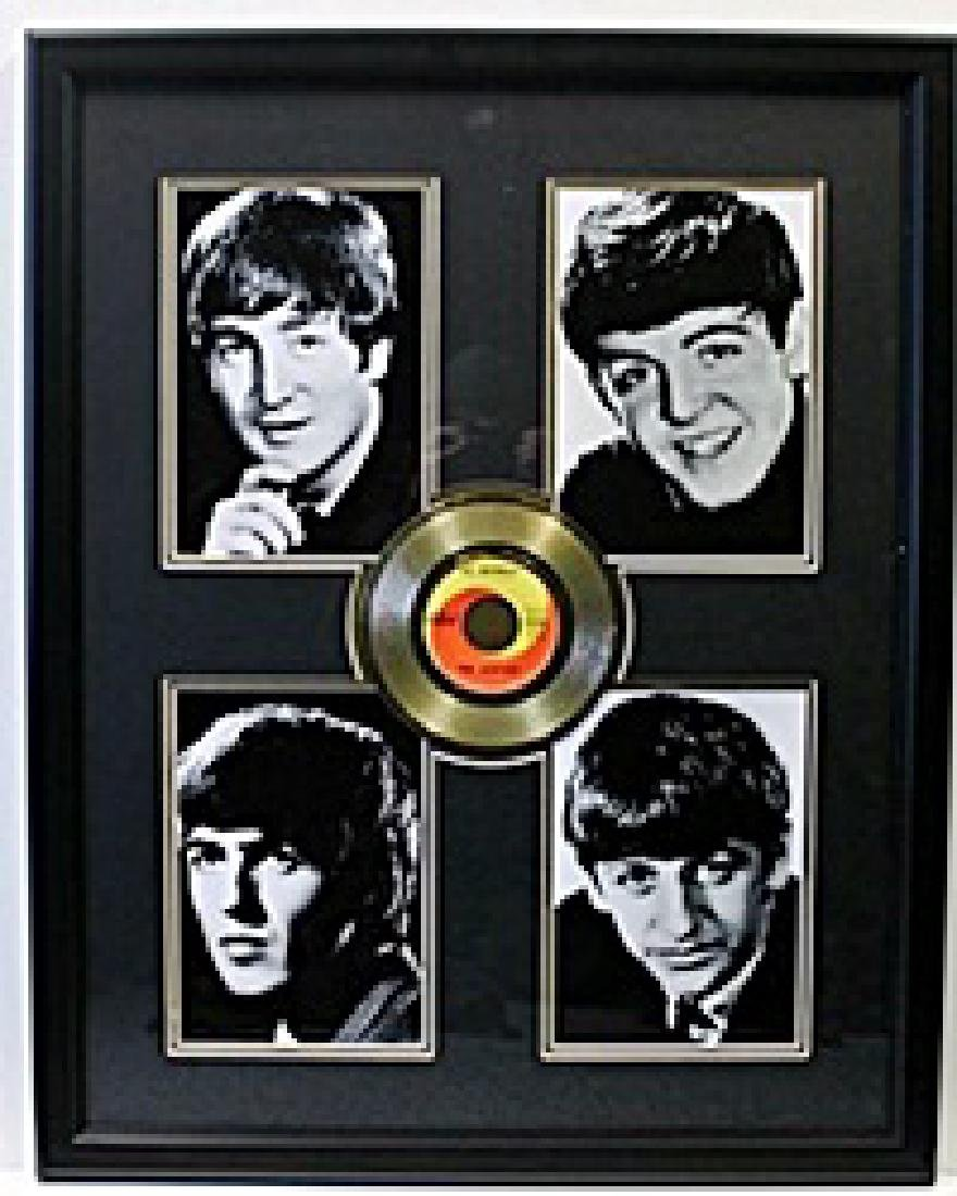 Act Naturally Record - Gold Plated Record - The Beetles
