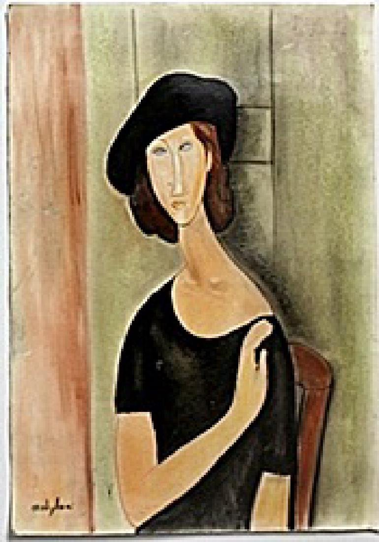 Pastel on Paper -  Amadeo Modigliani