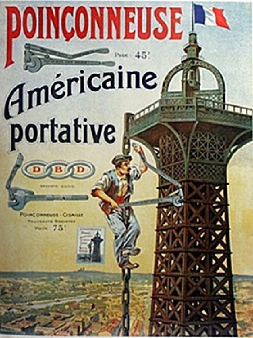 Poster - Poinconneuse Americaine Portative