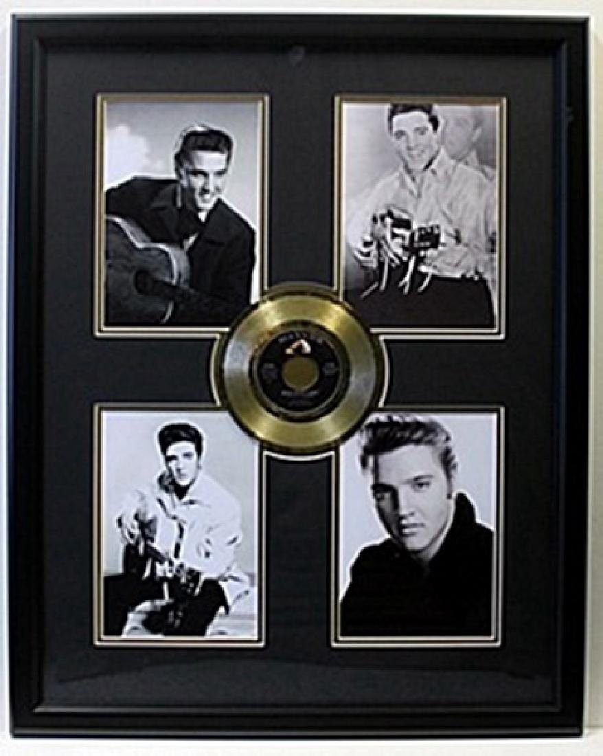 Elvis Presley Memorabilia with Gold Plated Record -