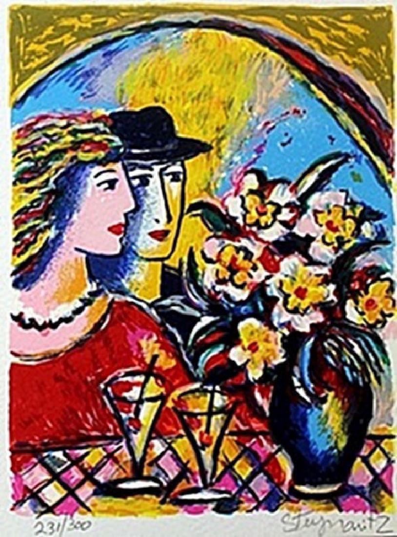 "Serigraph ""A Toast of Love"" by Zamy Steynovitz"