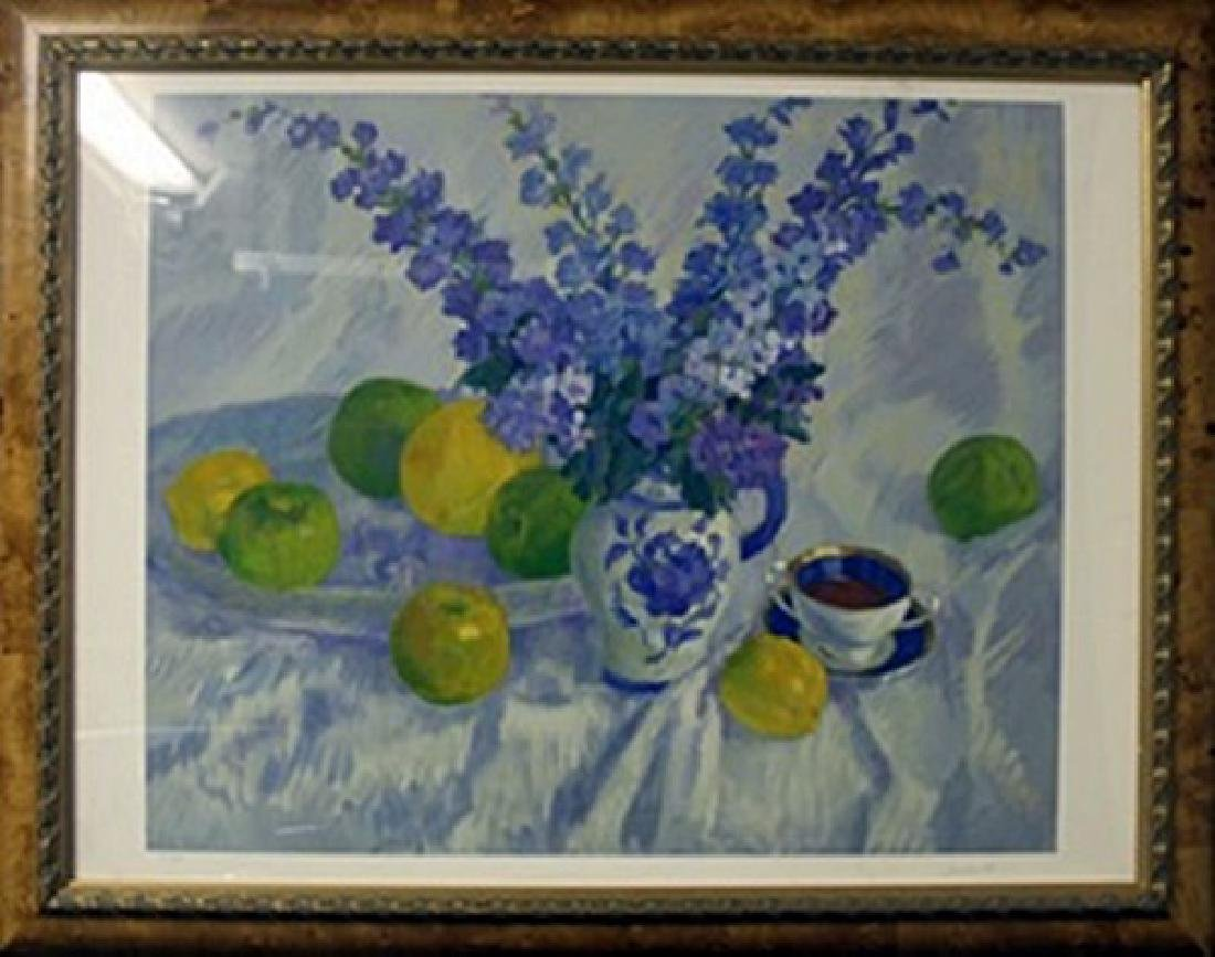"""Lithograph """"Fruit with Flowers"""" After  Amikst"""