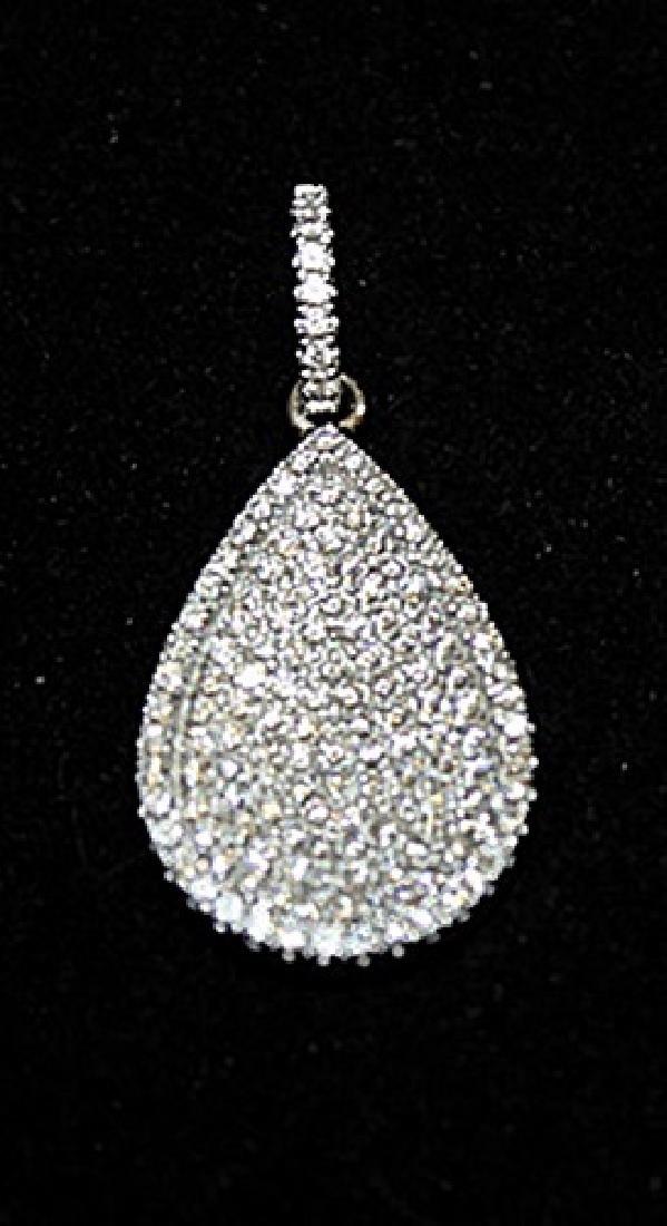 Fine Pear Shape Silver Pendant (31P)