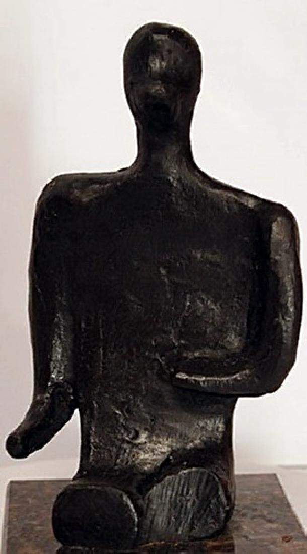 Bronze Sculpture on a Marble Base - Henry Moore