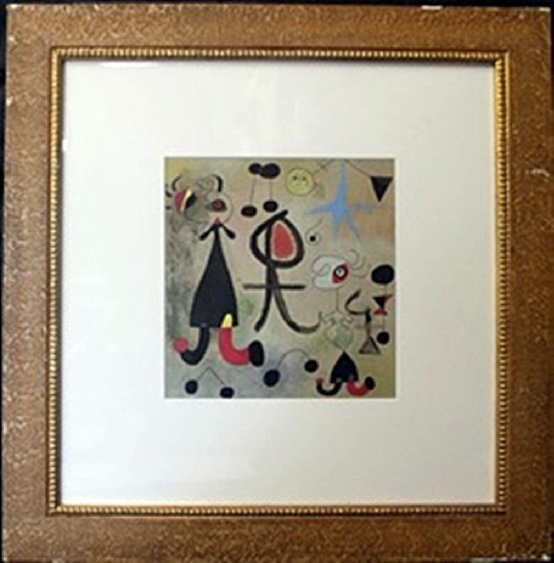 Framed Lithograph after Joan Miro