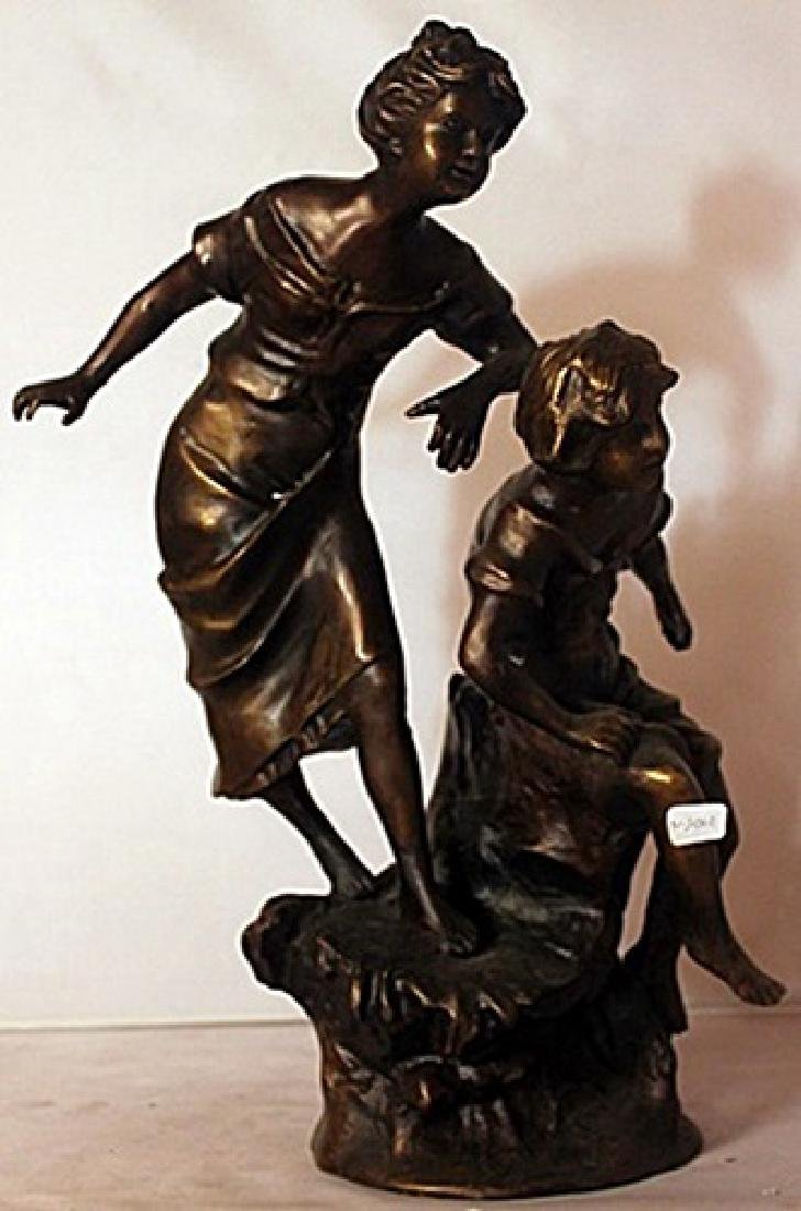 Sisters - Bronze Sculpture W/ Marble Base