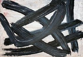 Snake - Franz Kline - Oil On Paper
