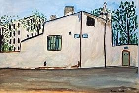 Street In Montmartre - Maurice Utrillo - Watercolor On