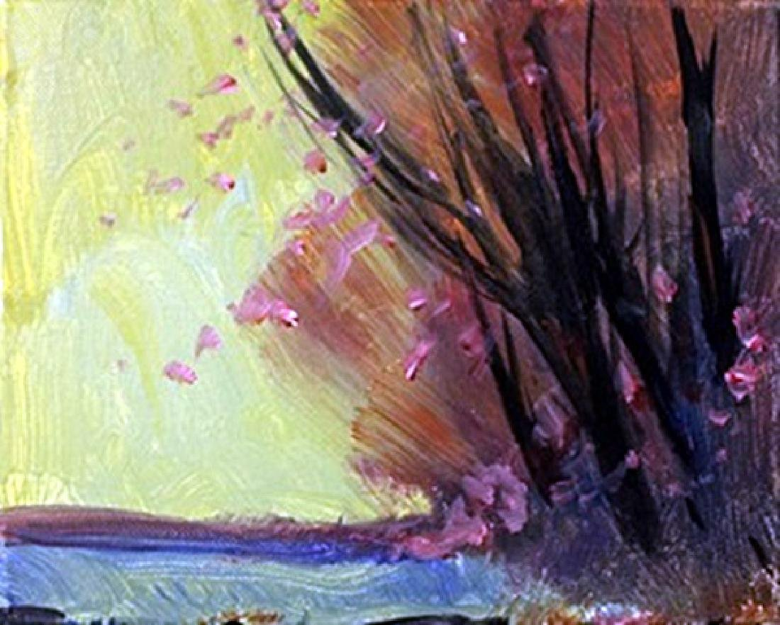 "Acrylic on Canvas ""Lavender Winds"" by Michael Schofield"