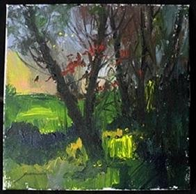 """Original Acrylic Paint on Canvas, """"Summer Evening"""" by"""