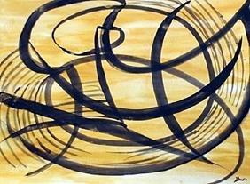 The Ring - Giacomo Balla - Watercolor On Paper