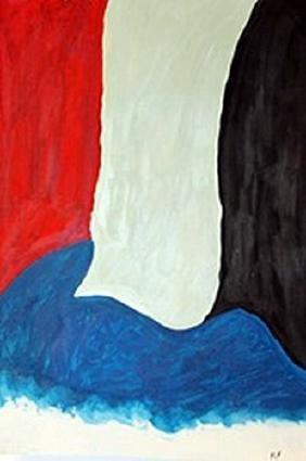 The Flag - Helen Frankenthaler - Oil On Paper